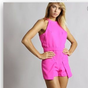J.O.A. NWTS Los Angeles Pink Open Back Romper XS